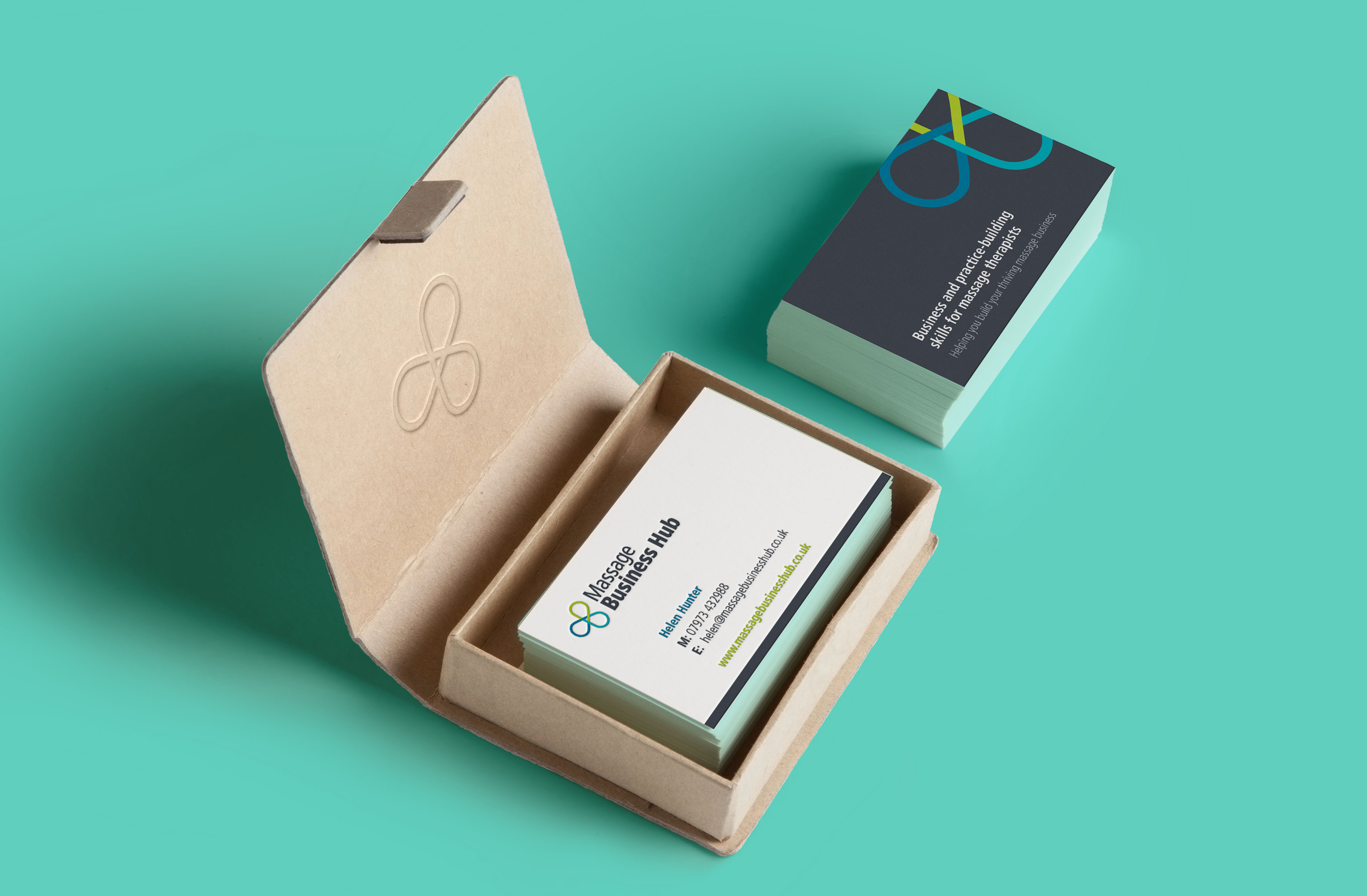 Massage Business Hub Business Cards